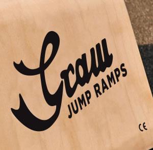 Graw Jump Ramp G35 Skateboard ramp logo detail