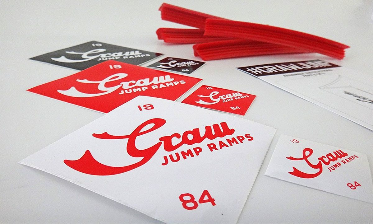 Graw Jump Ramps - Rubber cushions and stickers set